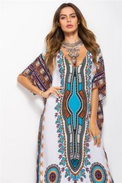 Bright Maxi Dresses Dgt Fashion African print Bright Color Casual Dresses Sleeveless Sundress Loose  Long Dress Cheap Women Summer Boho Maxi Dresses