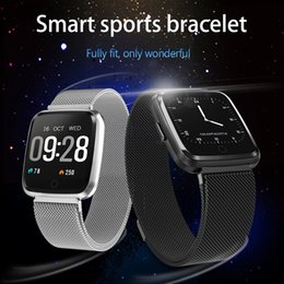 $enCountryForm.capitalKeyWord Australia - Y7 Smart Fitness Bracelet Blood Pressure Oxygen Sport Tracker Watches Heart Rate Monitor Watch Men Women Steel Band Wristband
