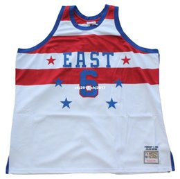 8f11f59bc688 Julius Erving  6 Sewn Mitchell   Ness 1980 high quality white East Jersey  Mens Vest Top Size XS-6XL Stitched basketball Jerseys Nca