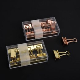 Discount metal binder clips - 16pcs 19mm Mini Metal Binder Clip Paper Pile Photo Message Ticket Notes Clips Korean Office School Supplies F42D