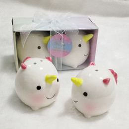 Baby Party Gift Ceramic Unicorn Salt And Pepper Shaker Shower Souvenirs Return Gifts For India Wedding