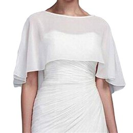 Ivory Wedding Dress White Shrug Australia - High end customization Shawl Shrug chiffon Wedding Bolero Cape night cover Wedding Dress Woman Wedding Accessories wraps Festa