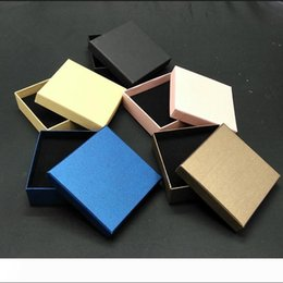 coating jewelry NZ - A 7*9*3cm Kraft paper box ring Earrings jewelry Pack Boxes Small Gift Box Wedding Party Candy Packaging Box