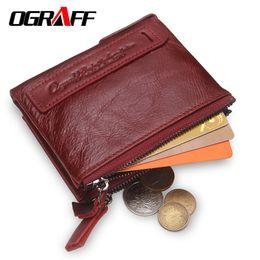 Wallet Perse Australia - Ograff Purse Genuine Leather Men Wallets Clutch Male Clutch Bag Coin Purse Card Holder For Men Portfolio Perse Small Mini Wallet Y19052104