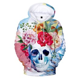 b6154b9b2e2d New flower Skull print fashion 3d Hoodies Pullover Long Sleeve men women  Hoodie clothes harajuku 3D Hooded Sweatshirts tracksuit
