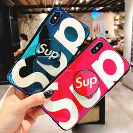 Cas de téléphone de mode TPU Blue Ray pour iPhone 7/8 / X / Xr / Xs / Xs Max cas protecteur de téléphone pour jeune homme livraison gratuite en Solde