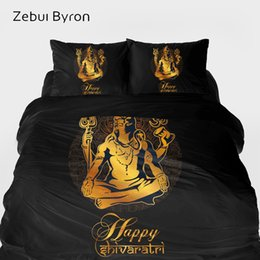 black red bedding sets queen Australia - 3D Bedding sets,Duvet Cover set King Queen Size,Bed Set Black Golden Maha Shivaratri,Blanket Quilt Cover Set,luxury Bedclothes