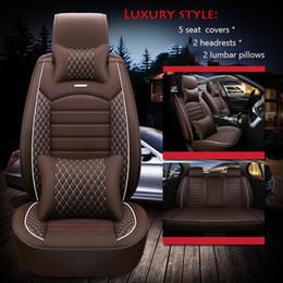 Discount rav4 accessories - 2020 auto Interior Accessories For Toyota Sedan Corolla Camry Rav4 Auris Prius Yalis Avensis Luxury PU Leather Car seat