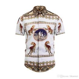 $enCountryForm.capitalKeyWord Australia - The New Summer fashion Style Men Shirt Leisure Cotton Men's Short Sleeve Shirt Leopard Floral pattern Medusa Men Shirt For 2019