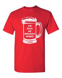 69a659677 I'm Full of Holiday Spirit Beer Mug Drinking Merry Christmas Men's T Shirt  1715 colour jersey Print t shirt