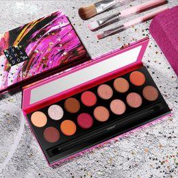 $enCountryForm.capitalKeyWord Australia - SmileyColor 14 Color Nude Shining matte Eyeshadow Palette Makeup Glitter Pigment Smoky Eye Shadow Pallete Waterproof Cosmetics