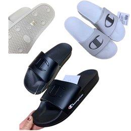 Girls Flat Jelly Shoes NZ - Champion Men Designer Sandals Women Luxury Summer Sports Brand Slippers Mules Flip Flops Flat Jelly Wedge Platform Sandal Beach Shoes A52905
