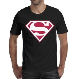 $enCountryForm.capitalKeyWord Australia - Superman Retro Logo Inspired White With Red Trim black men's short sleeve t shirts make a t shirt cotton humorous christian men Tops Pull