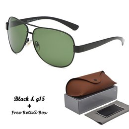 $enCountryForm.capitalKeyWord Australia - 1pcs wholesale Brand Design Classic style sunglasses men women glass lens vintage sun glasses Oculos De Sol With free Retail box