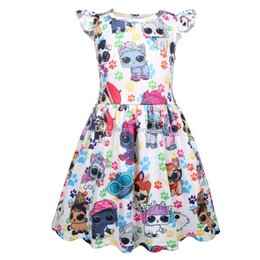 designer kids summer clothing NZ - 2019 hot Summer Kids Designer Clothes Girls new girl baby dress ice silk dress baby dress