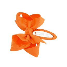 orange light brown hair UK - free shipping 20pcs 2.5-3'' snap botuique hair bows ABC girl hair clips baby kid accessories for head fashion bows