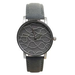 $enCountryForm.capitalKeyWord Australia - Nafisa Women's Hot Fashion Sexy Grey Fancy Fabric Dial Silver Color Case Leather Strap Wrist Watch NA-180