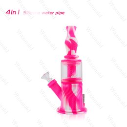 Buy Glasses Australia - Glass Dab Rig Water Bongs Waxmaid 4 in 1 BPA Free Silicone Water Pipe Glass Bong Buy 1 Get 4 Bong