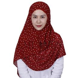 Polka Dot Scarves Wholesale Australia - Printed polka dot pearl chiffon scarf solid color shawl muslim hijab women bubble chiffon hijab head scarf scarves