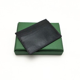 High Quality Men Women Credit Card Holder Classic Mini Bank Card Holder Small Slim Wallet Wtih Box on Sale