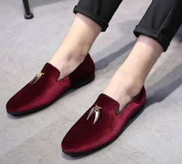 $enCountryForm.capitalKeyWord NZ - Men's luxury Designer gentleman Velvet tassel pendant Oxfords Shoes Male Homecoming Dress Wedding Party Prom shoes plus size