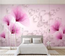 Discount backdrop fantasy - custom size 3d photo wallpaper living room bed room mural fantasy flower 3d picture photo sofa TV backdrop wallpaper non