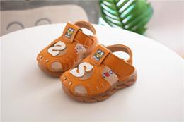 $enCountryForm.capitalKeyWord NZ - 2019 summer baby children beef tendon bottom sandals baby toddler shoes anti-kick head children's shoes 0-2 flashing lights