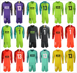 2018 2019 Adults MEN Long Oblak Goalkeeper Jerseys  1 Adan Soccer Sets 13  Jan Oblak Adan GK Jerseys Football Goalie Uniform Suit Sets f124947cf