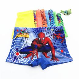 Men cartoon boxers shorts online shopping - INS spider man Children Underwear Cartoon Boy Boxer Briefs Children Underwear boys boxer shorts kids designer clothes boys briefs A6791