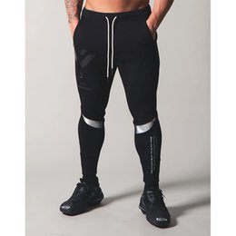 muscle print pants Australia - 2020 men's jogging cotton sports pants new fashion printing design muscle men gym fitness pants training suit
