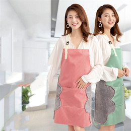 custom aprons Australia - Customized advertising apron oilproof waterproof waist kitchen polyester apron custom logo factory wholesale