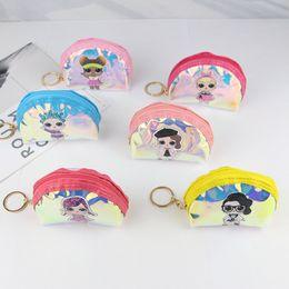 Handbags for cHildren online shopping - Surprise Girls Cartoon Laser Coin Purse Waterproof TPU Zipper Wallet Children Cute Storage Handbags Cluth Bags For Card Earphone Key C51703