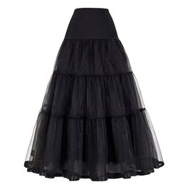 $enCountryForm.capitalKeyWord Australia - Plus Size Long Skirts Womens Rockabilly Underskirt Tulle Crinoline Vintage Midi Bridal Wedding Petticoat Pleated Maxi Skirt J190626