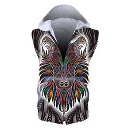 $enCountryForm.capitalKeyWord Australia - Men Zipper Sleeveless Hoodie Lion 3D Full Printed Man Zip Hooded Sweatshirt Unisex Casual Hoodies Sweatshirts Digital Tops (RSZJ-55039)