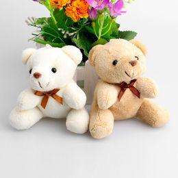 Mini Bear Bouquet Australia - Teddy Mini Design Baby Girl boy Plush Toys Key Pendant Flower Bouquets Weddin Promotions Gifts Bear Q190521