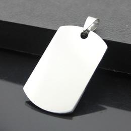 $enCountryForm.capitalKeyWord NZ - 50*28*1.6mm Silver Mirror Effect Stainless Steel Blank Flat Metal Pet ID Dog Tag Pendant Free Shipping