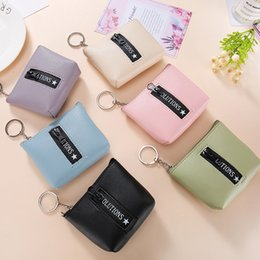 $enCountryForm.capitalKeyWord NZ - Female Solid color zipper card purse Women Leather Zip Small Wallet Card Holder Coin Purse Clutch Handba portefeuille femme cuir