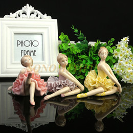 decorate ceramics NZ - Ceramics Ballet Lace Girl Marry Gift Home Ornament Originality Decorate Ornament Y19070603