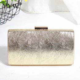 $enCountryForm.capitalKeyWord Australia - New 2019 Box Party Evening Bag Small Clutch Purse Women Bag Gold Day Clutches Ladies Purses With Chain Party Wedding Hand