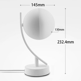 moon bedside lamp Australia - Bedside Round Bedroom Multiple Smart Remote Desk LED Moon Night Light Table Lamp Dimmable Voice Control JK0179