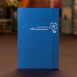 China Wedding Invitations Sets Free Printing With Gilding Flower Royal Blue Personalized Chinese Wedding Invitations Cards #BW-I0028 suppliers