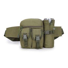 Molle Bags Packs Australia - Tactical Military Molle Bag Outdoor Travel Sport Bag Fanny Pack Detachable Water Bottle Holder Waist Belt mini Pouch Pocket #86636