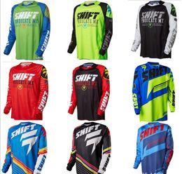 Orange bikes t shirt online shopping - American SHIFT downhill suit Jersey clothing men s T shirt Summer long sleeved mountain bike off road clothing