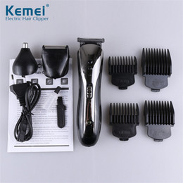 shaved hair styles Australia - Kemei KM-1407 3 in 1 Hair Trimmer Rechargeable Hair Clipper Electric Shaver Beard Nose Trimmer Styling Tools Shaving Machine