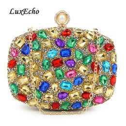 $enCountryForm.capitalKeyWord Australia - LuxEcho Womens handbags mix color Crystal Party shoulder bags bridal evening bag day clutches rhinestone wedding purse Fuschia