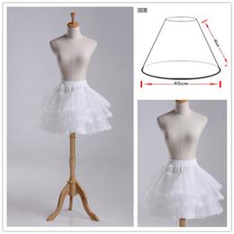 $enCountryForm.capitalKeyWord Australia - Elegant 3 Layer Lolita Flower Girl Dress Petticoat Tutu Skirt Slips Pettiskirt with Lace Edge For Wedding Adjustable For Girl