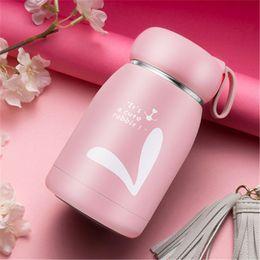 $enCountryForm.capitalKeyWord Australia - Outdoor Creative Mini Mug Small Warm Cute Female Student Cup Vacuum Stainless Steel Portable Belly Cup