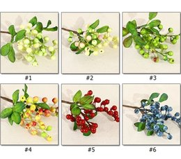 Wholesale Artificial Small California Berry Simulation Berry Blueberry Fruit Fake Plant Living Room Decoration WB129