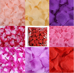 Silk White Rose Petals Wholesale Australia - Hot sale 100pcs kg Cheap Non-woven Silk Rose Flower Petals fabric Artificial Flowers Wedding Birthday Party Decorations free shipping