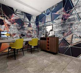 $enCountryForm.capitalKeyWord Australia - Modern Abstract Retro Industrial Wind Geometric Stitching House Background Wall Beautiful Wallpaper